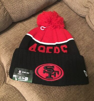 db60cf8f33d07 2015 San Francisco 49ers New Era Knit Hat On Field Sideline Beanie Cap •  24.95