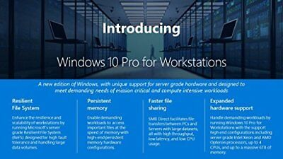 $ CDN375.66 • Buy Microsoft Windows 10 Pro 64-bit For Workstations - License - 1 License - OEM