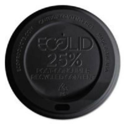 Eco Products EP-HL16-BR Ecolid 25% Recy Content Hot Cup Lid, Black, F/10-20oz, • 56.98£