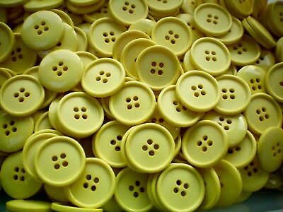 $1.37 • Buy 22mm Yellow Sunshine Bright 4 Hole Coat Craft Costume Novelty Buttons (S151)