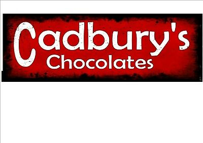 £8 • Buy Cadbury's Chocolate Advertising Sign Vintage Style Sign Retro Vintage Shop Sign