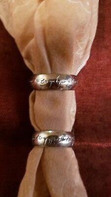 Lord Of The Rings Wedding Band.Lord Of The Rings Ring Engraved