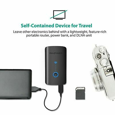 AU170 • Buy RAVPower Australia FileHub Plus RP-WD03 Power Bank Travel Router SD Card Reader