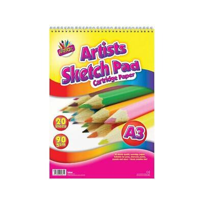 £4.49 • Buy A3 20 Sheets Sketch Pad - Drawing Arts Crafts Kids Children Adults School Colour