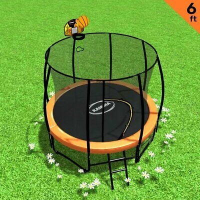AU594.36 • Buy Kahuna Trampoline 6ft With Basketball Set - Orange