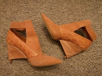 Sample Rare Collectable Chloe Boots 37 UK 4 Orange Tan Beige Suede Used Once • 250£