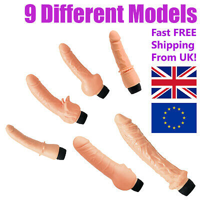AU35.69 • Buy Vibrator-Dildo Realistic Vinyl Large With Clitoral Stimulator 8 - 9 Inches Long