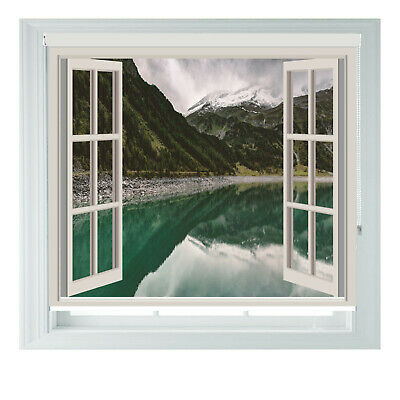 Mountain Lake Window Scenic Printed Photo Black Out Roller Blinds 2 3 4 5ft • 65£