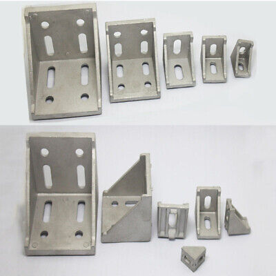 AU5.14 • Buy L Shape Aluminum Right Brace Corner T Slot  Angle Bracket Profile 20/30/40/60/80