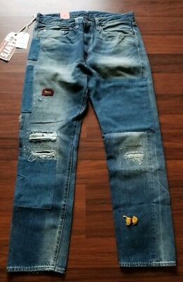 4d2bdb1a Levi's 1954 501Z Red Selvedge Jeans 26x32 Big E Patched Distressed NWT  Vintage • 62.99$