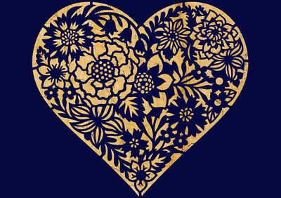£4.49 • Buy Love Stencil Heart Floral Wedding Paint Wall Furniture Reusable Crafts Arts HE64