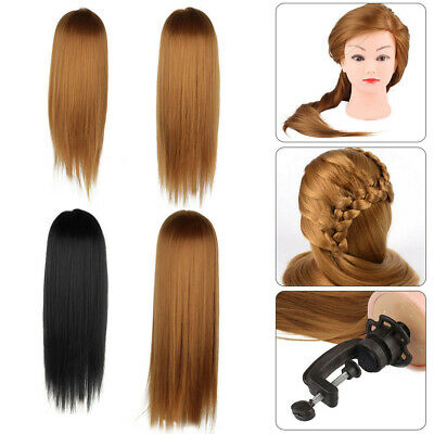 24/26/30  Salon Hair Training Head Hairdressing Styling Mannequin Doll + Clamp • 10.99£