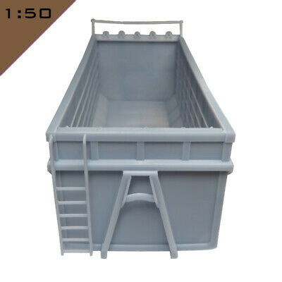 1x 3D Printed HOOKLIFT CONTAINER 1:50 Model Miniature Scenery Layout Diorama • 22.80£