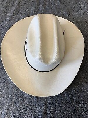 61b4cdf6f56 RESISTOL George Strait Collection Shantung Panama Cowboy Hat 8X Size 7 •  24.99