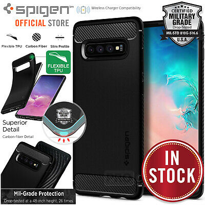 AU19.99 • Buy For Samsung Galaxy S10/S10e/Plus Case, SPIGEN Rugged Armor Shockproof Soft Cover