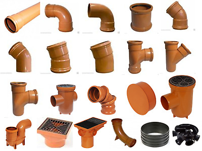 £1.79 • Buy Underground Drainage Pipes & Fittings Couplers Bends Covers Sewer Soil 110mm