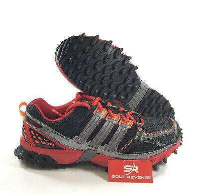 premium selection 42870 cc01f New 8 Adidas KANADIA 4 TR Trail Running Shoes Black Light Scarlet Red  G47375 • 74.99