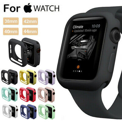 $ CDN4.09 • Buy For Apple Watch Series 4 3 2 Bumper Silicone Protector Case Cover 38/40/42/44mm