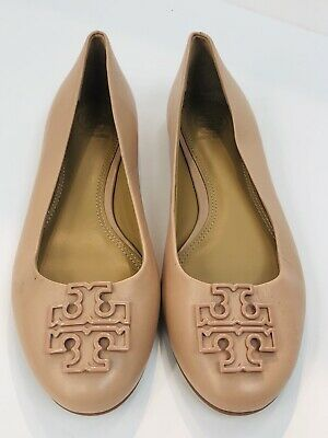 746ec354ba6bd1 NEW TORY BURCH Melinda Leather Flats Shoes Ballerina Light Makeup Size 6 •  78.32