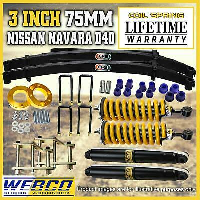 AU1395 • Buy 3 Inch Pre Assembled Lift Kit EFS Leaf King Spring For Nissan Navara D40 STX550