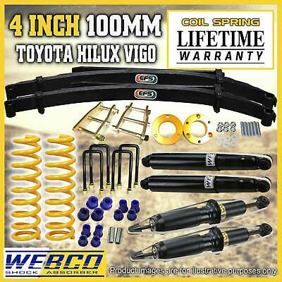 AU1095 • Buy 4 Inch 100mm Lift Kit Shocks EFS Leaf King Spring For Toyota Hilux KUN26 GGN25