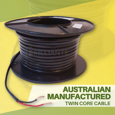 AU48.50 • Buy Twin Core 4mm 30m Wire Cable Battery 22a Trailer Automotive 12/24v Twin Sheath