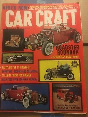 Car Craft & Model Magazine October 1963 Roadsters 1955 Chevy Model Craft Vol 11 • 7.99$
