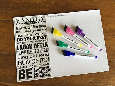 AU14.95 • Buy A4 Planner +5pens Daily Weekly Organiser Family Magnets Fridge Whiteboard Notes