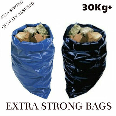 £12.99 • Buy 30kg+ Extra Strong 500 Gauge Heavy Duty Rubble Sacks High Strength Bags Builders