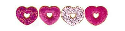 New Love Heart Doughnuts Soft Toy Cushion  Pink Red Kisses Romantic Love • 5.99£