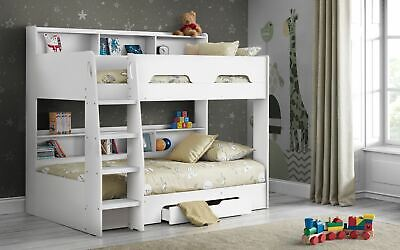 £609.99 • Buy Julian Bowen Orion Bunk Bed Frame 3FT Single Pure White With Drawer & Shelves