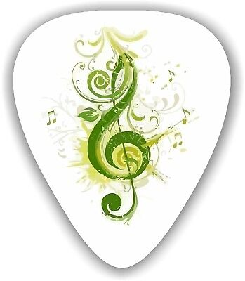 $ CDN5.79 • Buy 10 X Treble Green ~ GUITAR PICKS ~  *Printed Both Sides*