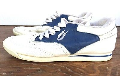26d661d90889b5 Vintage 1991 Nike High School Cheerleader Shoes Women s 7.5 White Blue  890507ST • 29.24