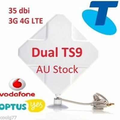 AU65.50 • Buy 35dBi 4G LTE ANTENNA BOOSTER For Telstra Wi-Fi 4GX Pro Modem - 2xTS9 Plug &cable