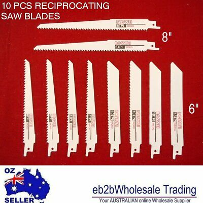 AU14.01 • Buy 10 Pcs Reciprocating Saw Blade Set Wood Soft Metal Pipe Sheet Blade 6 10 18 Tpi