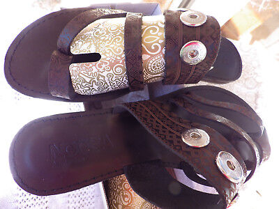 AU149 • Buy NOOSA AMSTERDAM Antique Black Tatu Ladies Sandals Euro 42 11 Takes 3 Chunks