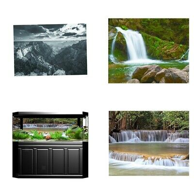 AU14.45 • Buy Vivid Lifelike Waterfall/ Mountain Picture  3D Poster For Fish Tank Background