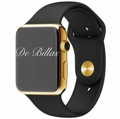 $ CDN985.70 • Buy 24K Gold Plated 42MM Apple Watch SERIES 3 With Black Sport Band GPS+Cellular