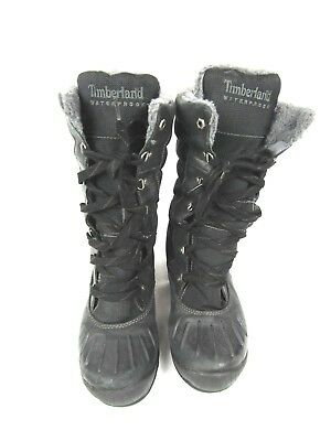 Timberland Mount Holly Tall Lace Duck Boots Black 21645 Women s Size 8.5 US  • 42.84  241a7e55d