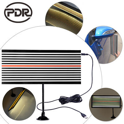PDR Paintless Dent Repair Tools LED Light Both Sides Line Board Hail Doctor Set • 20.52£