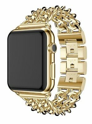 $ CDN978.62 • Buy 24K Gold Plated 42MM Apple Watch Series 2 Stainless Steel Case Gold Links Band