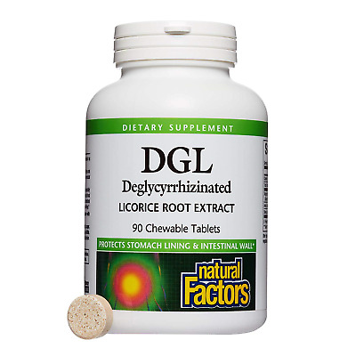 AU21.96 • Buy Natural Factors - DGL Licorice Root 400mg, Supports The Integrity Of The Stomach