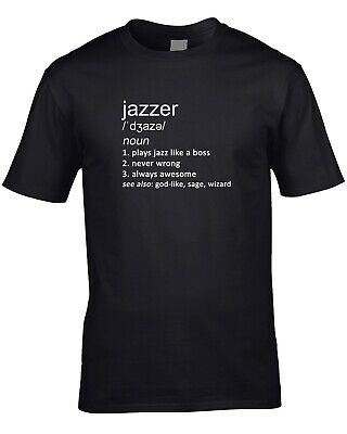 Jazzer Funny Definition Mens T-Shirt Gift Idea Music Player Jazz Band Orchestra • 10.95£