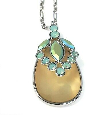 $ CDN13.97 • Buy Lia Sophia Crystal Cove Necklace Cut Crystals And Resin - 30  - 33  ~ New