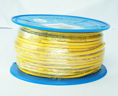 AU27.50 • Buy SINGLE CORE 4mm 30M YELLOW WIRE CABLE 15 AMP CARAVAN TRAILER 4X4 AUTOMOTIVE 12V
