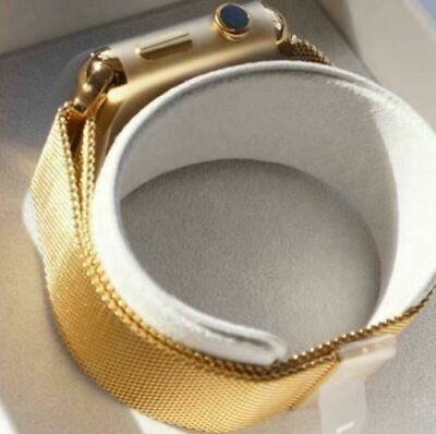 $ CDN856.14 • Buy 24K Gold Plated 42MM Apple Watch Series 2 With Gold Milanese Loop