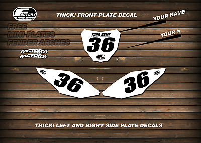 $31.99 • Buy Factory Backing Custom Number Plate Backgrounds Your Number & Name  MX Graphics