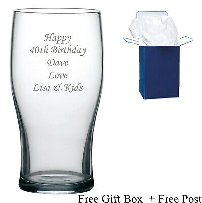 £8.99 • Buy Personalised 65th 70th 80th  Birthday Gifts Male Men  Boys Engraved Pint Glass