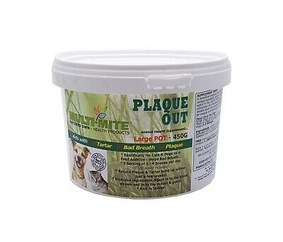 PLAQUE OUT® Dogs And Cats 450G - Plaque Off Dogs Bad Breath And Tartar Removal • 14.95£