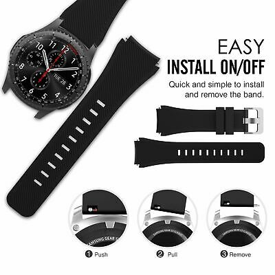 AU99 • Buy Gear S3 Frontier Band With Case, Shock-Proof And Shatter-Resistant Protective Ca